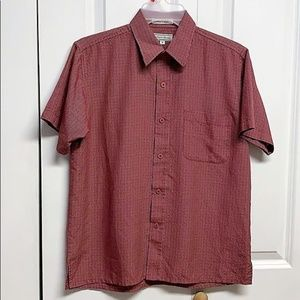 Authentic Shaolin Shirt Size Teen M Red Plaid